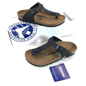 NEW Birkenstock Gizeh Black Sandals Girls Sz 1